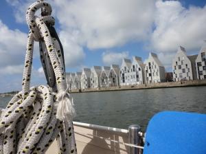 Unieke architectuur aan de haven in Duinkerken