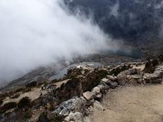 Uitzicht op het meertje vanaf 4.000 mtr