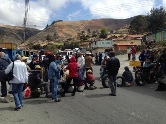 Wegblokkade - Protest